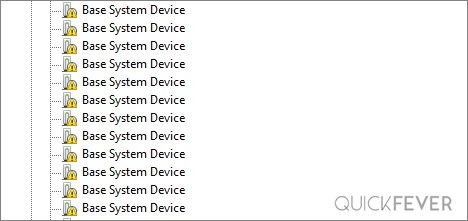 base system device instead of device name