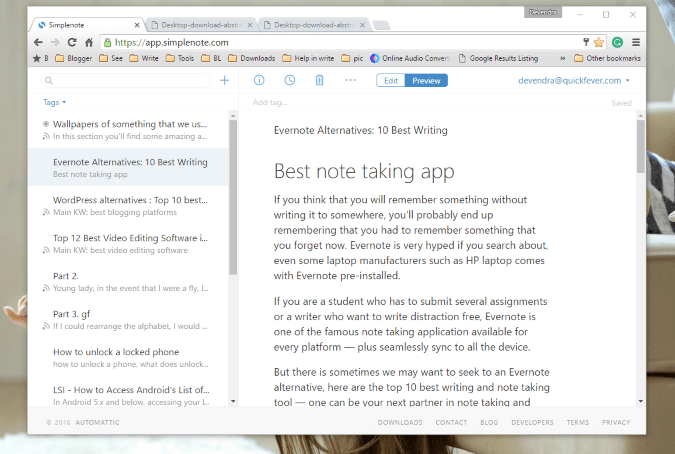 simplenote app for windows