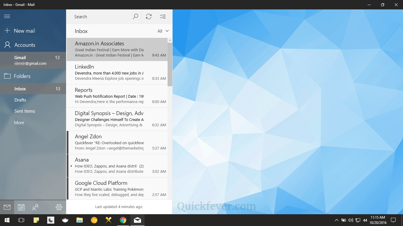 add gmail to windows 10 mail