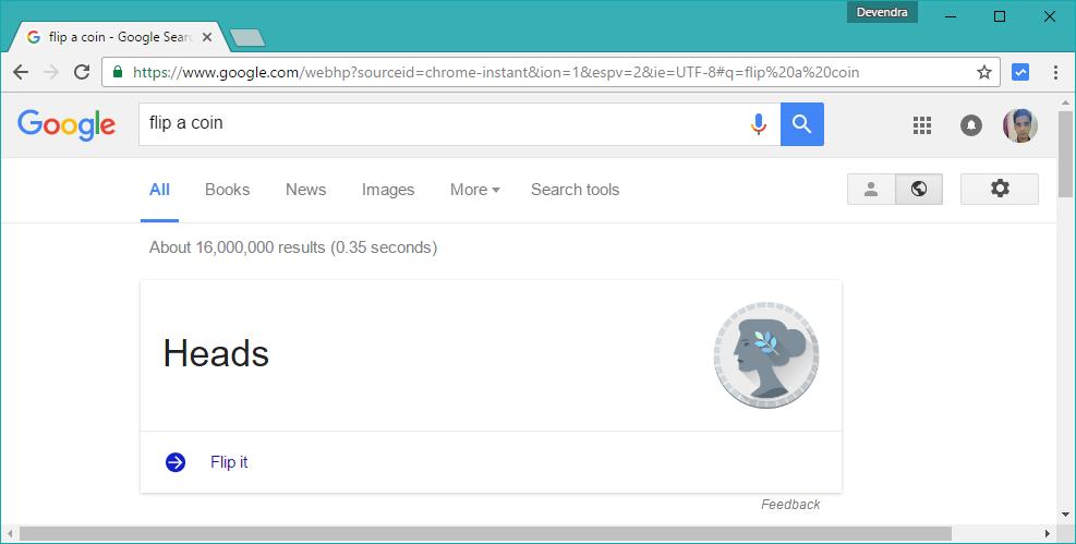 google funny tricks, coin