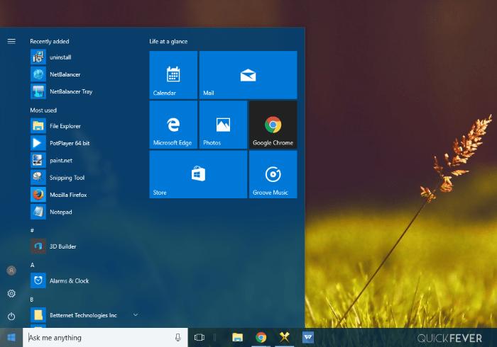 start menu, not opening, working, windows 10