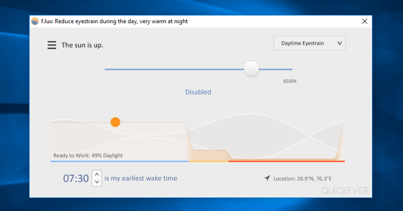 use flux as windows night light alternative