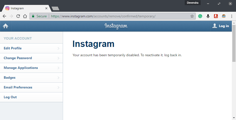 How to Disable Instagram Account Temporarily [2019]