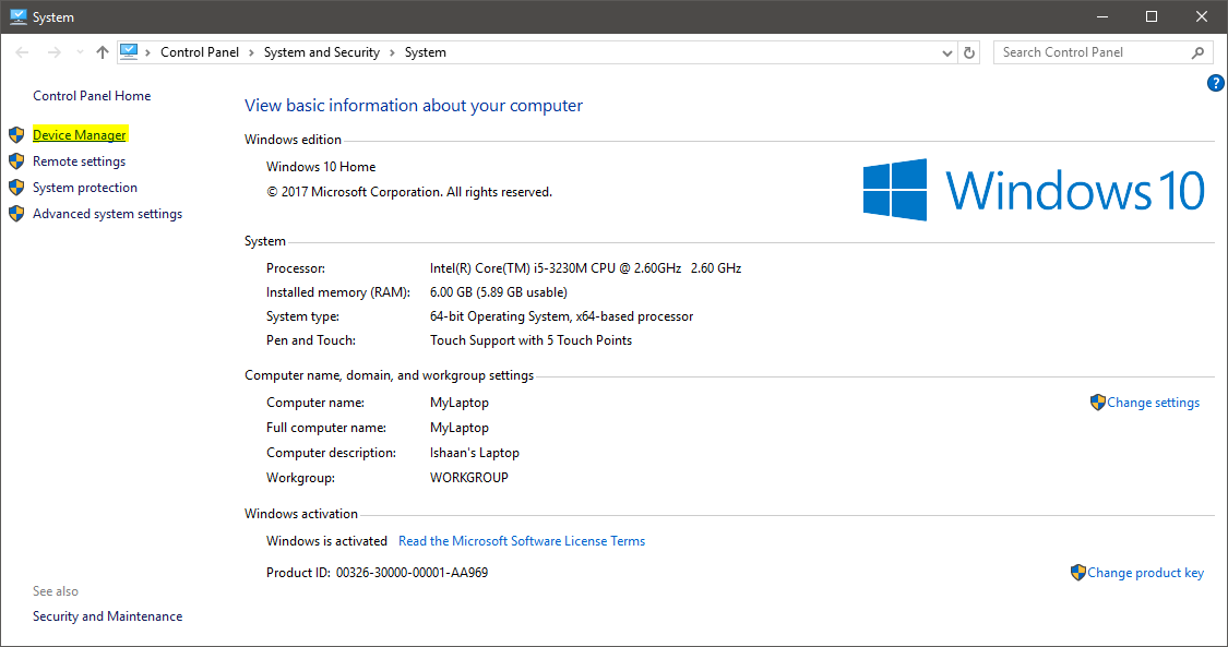 how to detect your video card windows 10