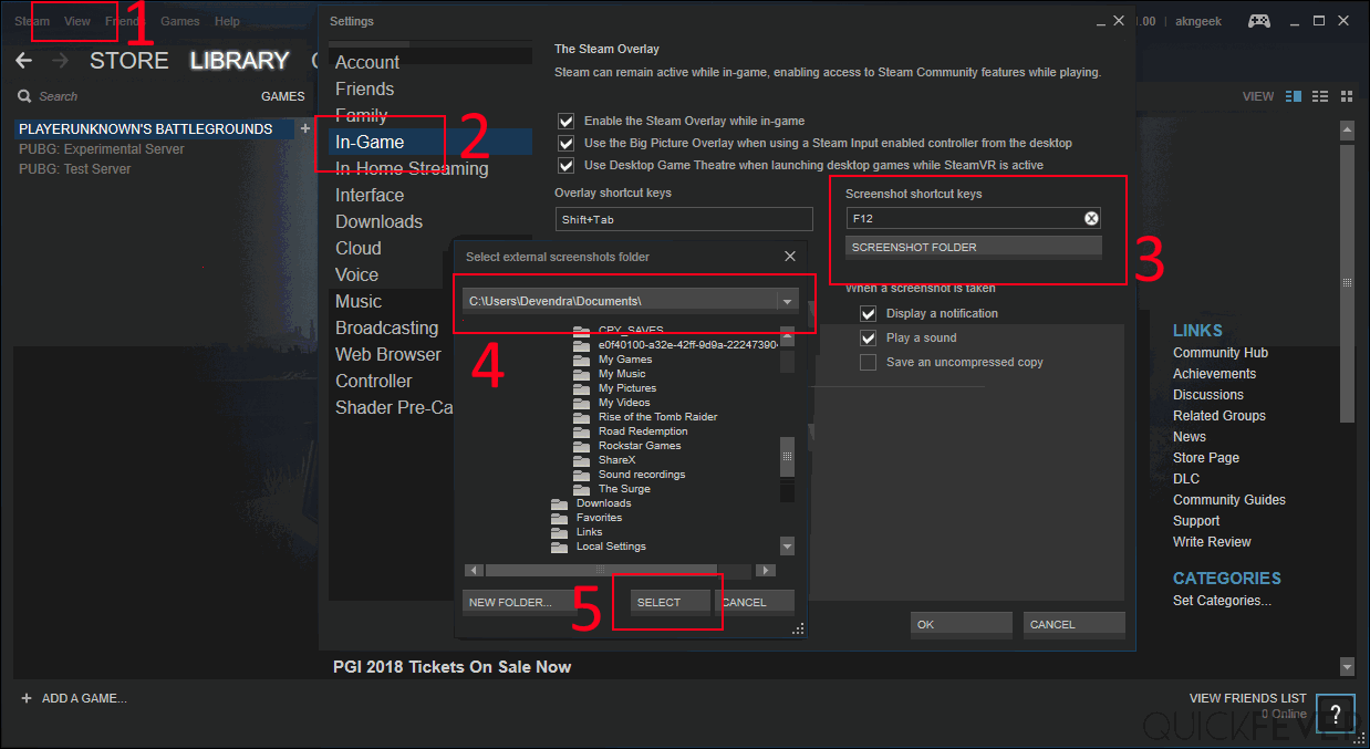 How To Access Steam Screenshot Folder And Change It
