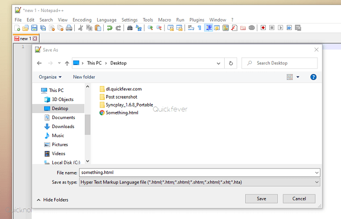 Save A Notepad File in PDF